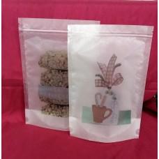 Print Diamond plastic stand pouch